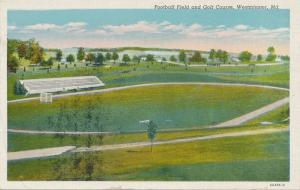 Football Field and Golf Course - Westminster MD, Maryland - Linen