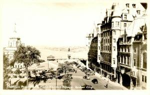 Canada - Quebec, Quebec City. Chateau Frontenac and Place D'Armes Square   *RPPC
