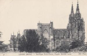 Lepine Marne Basalique Notre Dame Facade Nord French Religious Postcard