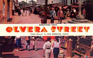 CA - Los Angeles. Greetings from Olvera Street