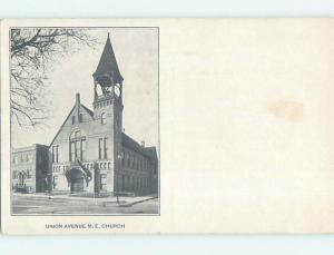 Unused Divided-Back UNION AVENUE M.E. METHODIST EPISCOPAL CHURCH p4991