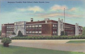 Iowa Cedar Rapids Benjamin Franklin High School 1949 Curteich