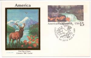 America The Beautiful F.D.-P.C.w/Colorano Silk Cachet