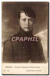 Postcard Old Gerard Portrait of Bonaparte First Consul Napoleon Musee Conde C...