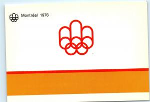 1976 Summer Olympics Montreal Canada Official Olympic Symbol Old Postcard A34