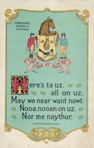 YORKSHIRE , UK , 1909 ; Toasts & Mottoes
