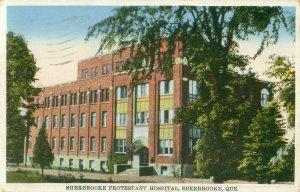 Sherbrooke, Que Canada Protestant Hospital 1943 Postcard