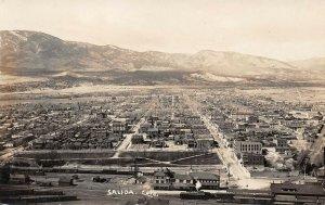 LPS98 Salida Colorado Town Aerial View Postcard RPPC