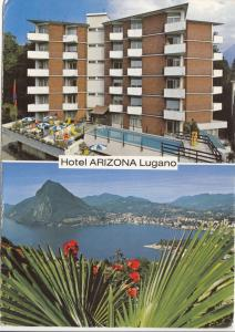 Switzerland, Suisse, Hotel ARIZONA, Lugano, used Postcard