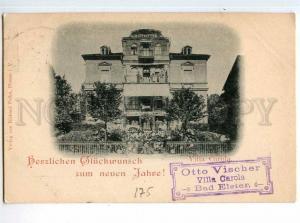 247936 GERMANY BAD ESTER Villa Corola 1899 Riga RPPC Railways