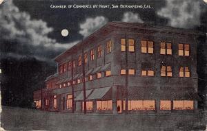 San Bernardino California~Chamber of Commerce~Night Lights~Full Moon~1910 PC