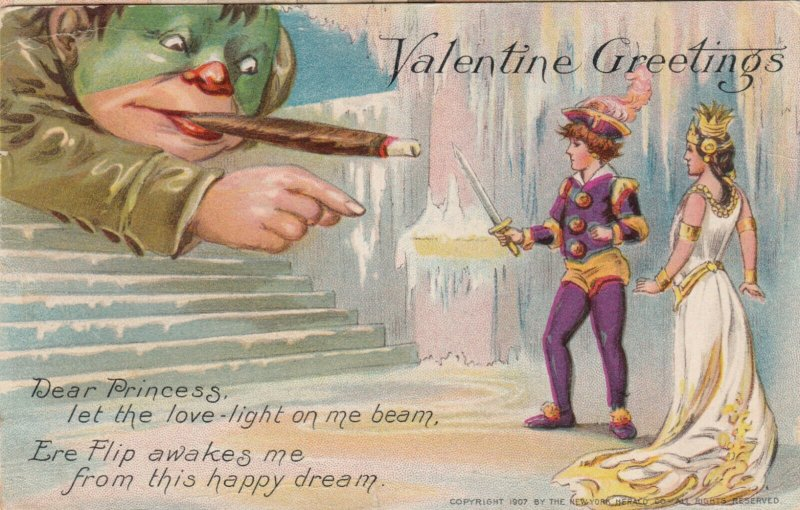 TUCK #6: FANTASY; Valentine, PU-1909; LITTLE NEMO Series, Defending the Prince