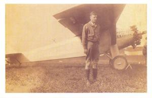 Nostalgia Postcard Charles Lindburgh Spirit of St Louis 1927 Repro Card NS31