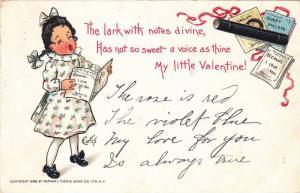Girl singing a Valentine song, Poem of my little Valentine, PU-1906