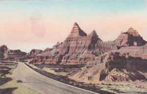 South Dakota Wall Leaving Cedar Pass The Badlands National Monument Albertype
