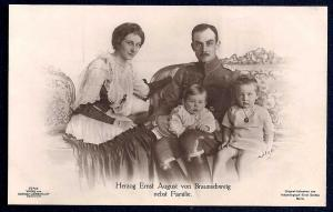 Duke von Braunschweig with his family RPPC unused c1910's