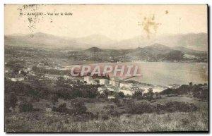 Old Postcard Ajaccio View On The Gulf