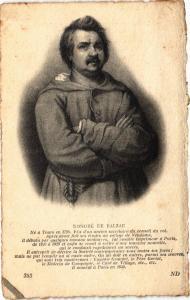 CPA écrivain auteur poete HONORÉ DE BALÉZAC (305090)
