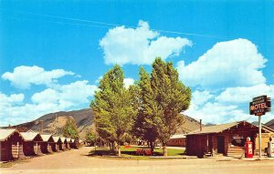 Jackson Hole WY Kudar's Cabin Lodge & Motel Texaco Gas Station Postcard.