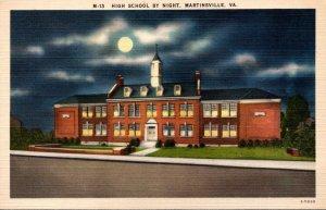 Virginia Martinsville High School By Night