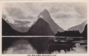 RP, People On A Boat, Mitre Peak, Milford Sound, South Island, New Zealand, 1...
