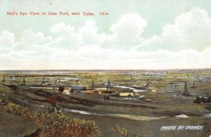 Tulsa Oklahoma Birdseye View Glen Pool Scenic Antique Postcard K15728