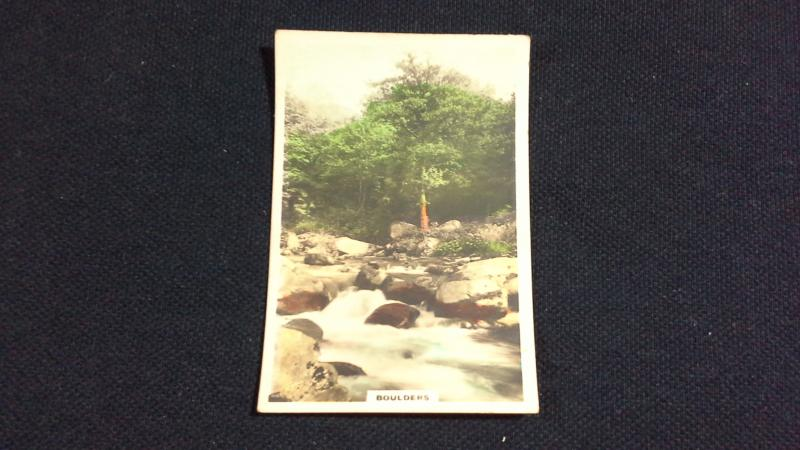 Cavanders Ltd Cigarette Card No 17 Camera Studies Boulders
