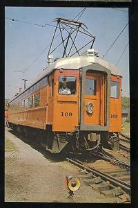 South Shore Electric Trainlines Postcard, South Bend, IN-