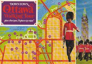 Downtown Ottawa Walking Tour Map Ontario Canada
