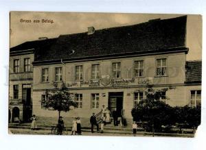 191545 GERMANY Gruss aus BELZIG Hotel Burg Eisenhardt Vintage