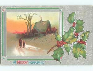 Divided-Back CHRISTMAS SCENE Great Postcard W8871