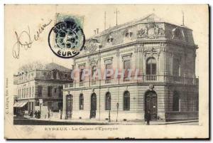 Old Postcard Bank Caisse d & # 39Epargne Evreux