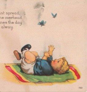 c.1907-15 Baby Boy Blanket Butterfly's Postcard 2T6-539