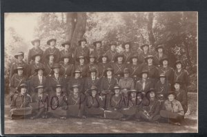 Social History Postcard - Group of Uniformed Ladies - Australian Guides? RS16125