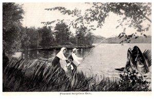 Exaggeration  Couple Fishin catching Giant Bass