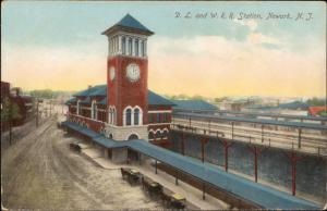 D L and W R R Station Newark New Jersey train railway railroad