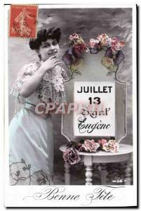Old Postcard Eugene Surname