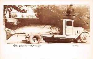 F30/ Tacoma Washington RPPC Postcard c40s Exaggeration Fishing Truck