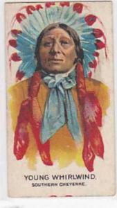 B A T Vintage Cigarette Card Indian Chiefs No 1 Young Whirlwind Southern Chey...