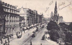 EDINBURGH, Scotland, 1900-1910s; Princes Street Looking East