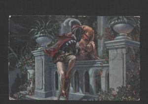 119790 Dressed DACHSHUND Romeo by THIELE vintage TSN #1015 PC