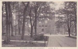 New York Utica Steuben Park And Armory Albertype