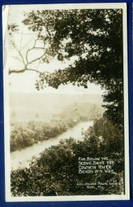 Noel Missouri mo Far Below the Scenic Drive Cowskin River Bends photo postcard
