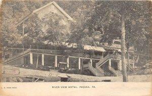G9/ Pequea Pennsylvania Postcard c1910 River View Hotel Building