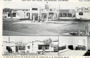 CO - Walsenburg, New Hill Top Court (Motel & Texaco Gas Station)