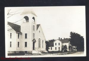 RPPC NORTHVILLE NEW YORK BAPTIST CHURCH BINTAGE REAL PHOTO POSTCARD N.Y.