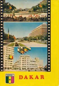SENEGAL , Dakar , 3-view postcard , 50-70s