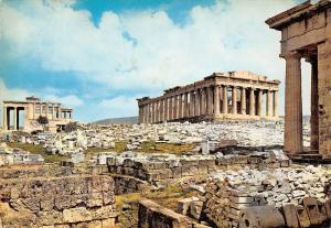 Greece Athens Propylaea Parthenon and Erechtheion Athenes Les Propylees
