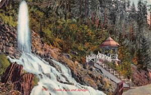 Oxone Falls and Springs, California, Early Postcard, Unused
