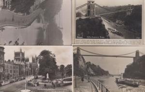 Clifton Suspension Bridge History  River Avon 4x Real Photo Character Postcard s